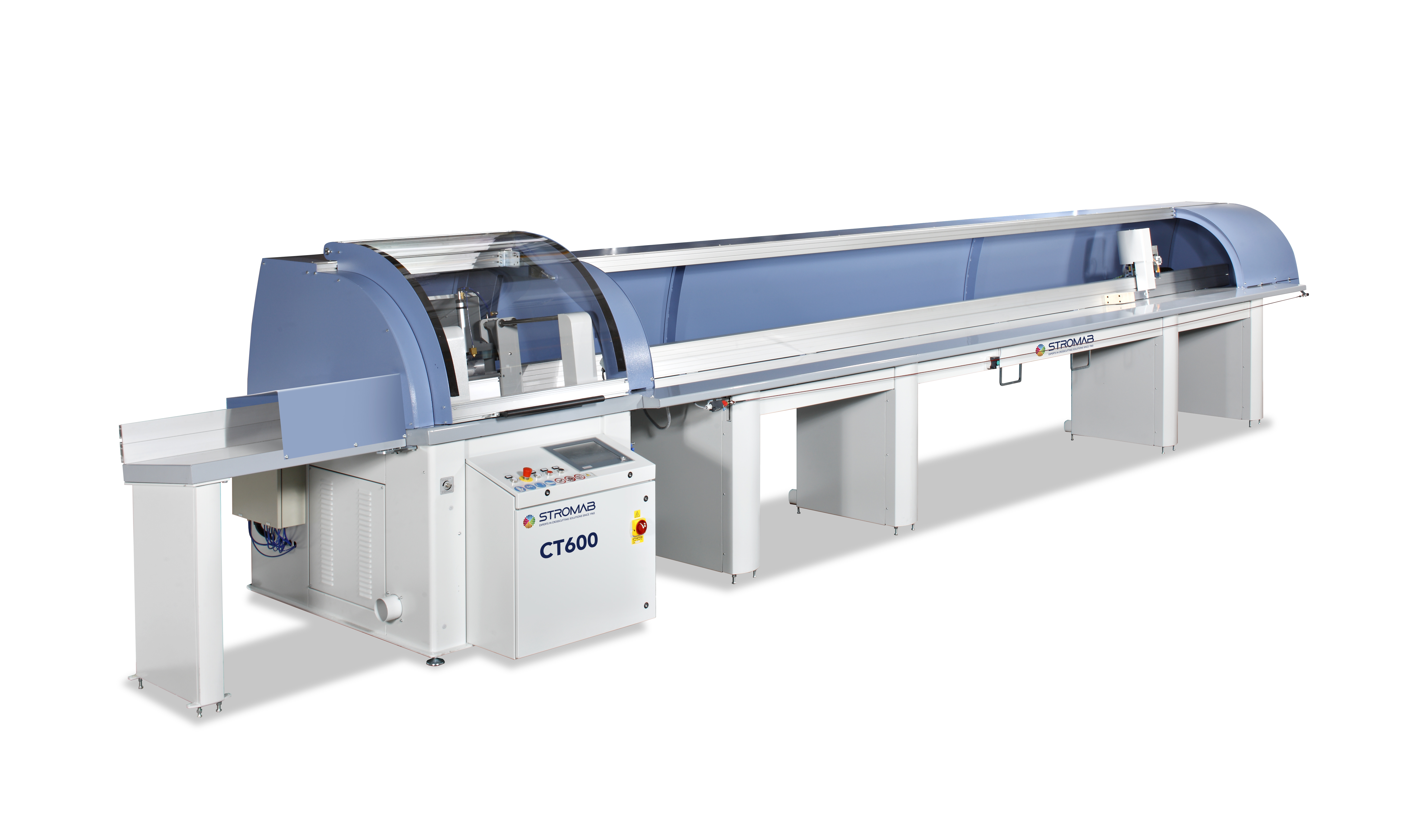 STROMAB CT600 AUTOMATIC PUSH FEED CROSSCUT SAW FOR STRAIGHT AND ANGLED CUTTING