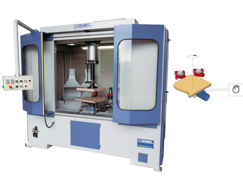 CAMAM FGS AUTOMATIC ROTARY SHAPING & PROFILING MACHINE FOR THE PRODUCTION OF SHAPED FURNITURE COMPONENTS